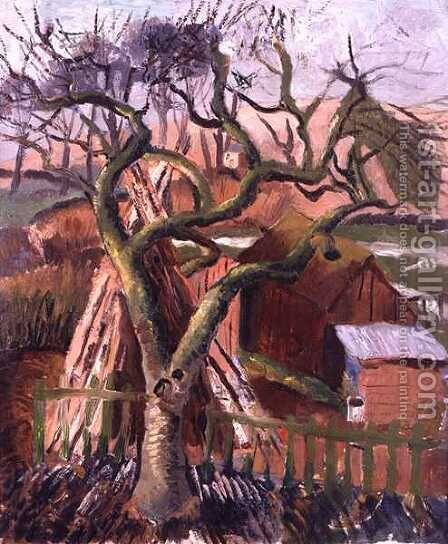 Landscape at Broadchalke, View from the Doctor's Window, 1925 by Christopher Wood - Reproduction Oil Painting