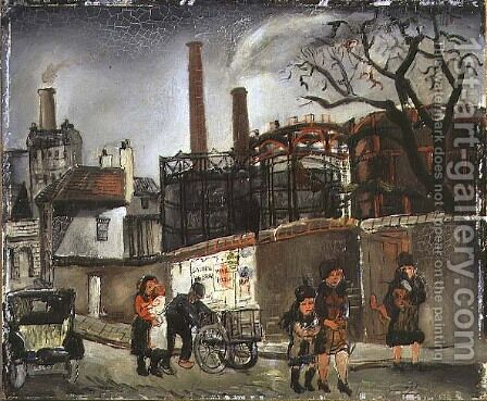Street Scene in Paris, 1926 by Christopher Wood - Reproduction Oil Painting
