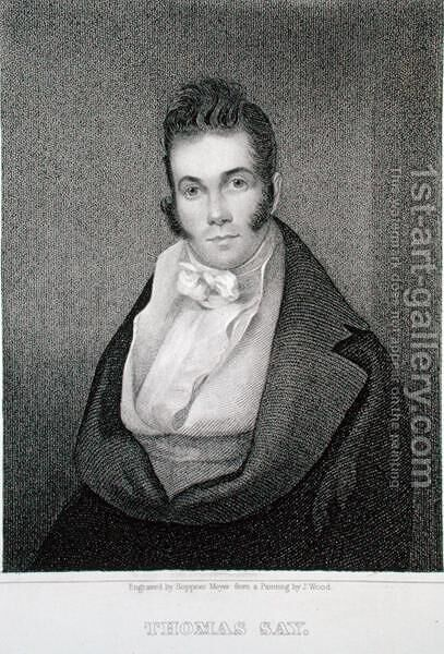 Thomas Say (1787-1834), engraved by Henry Hoppner Meyer (1787-1847) by (after) Wood, Joseph - Reproduction Oil Painting