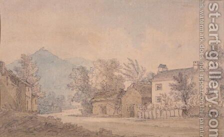 Dove Cottage, Grasmere, c.1806 by Dora Wordsworth - Reproduction Oil Painting