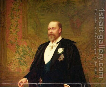 Edward VII (1841-1910) by Archibald James Stuart Wortley - Reproduction Oil Painting