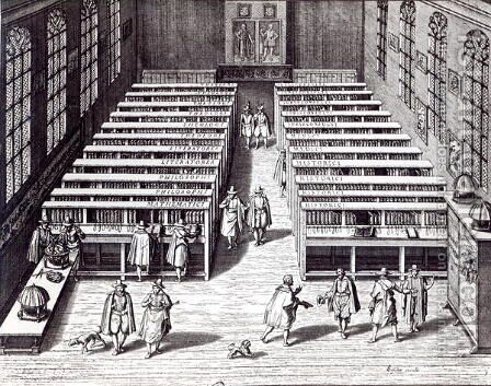 Leiden University Library, 1610 by Jan Cornelis Woudanus - Reproduction Oil Painting