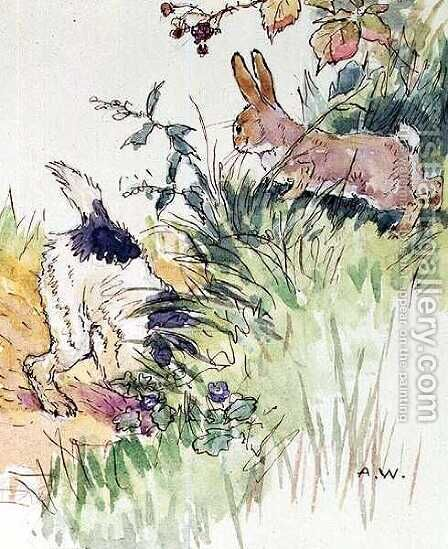 Illustration for the Busy Bunny Book 2 by Alan Wright - Reproduction Oil Painting