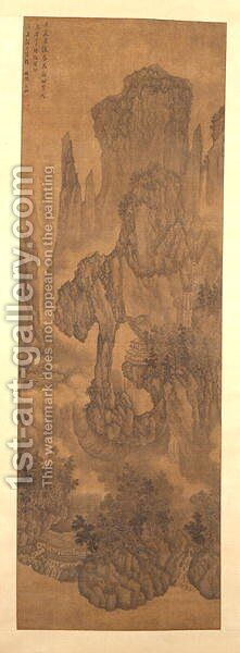 A Thousand Peaks and Myriad Ravines, 1617 by Bin Wu - Reproduction Oil Painting