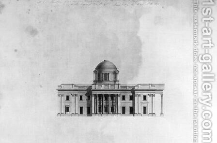 Elevation of Side Front of a house, 1815 by Benjamin Dean Wyatt - Reproduction Oil Painting