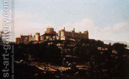 A View of Windsor Castle by Jan Wyck - Reproduction Oil Painting
