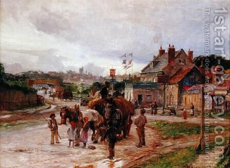 On the Way to Market, 1904 by Charles William Wyllie - Reproduction Oil Painting