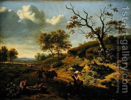 Landscape, 1659 by Jan Wynants - Reproduction Oil Painting