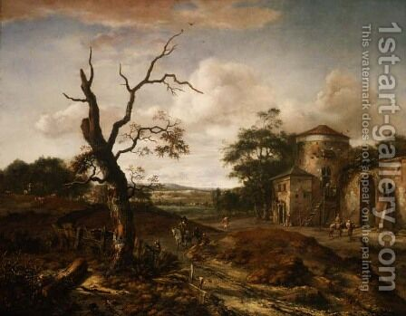 Wooded landscape near Haarlem, 1659 by Jan Wynants - Reproduction Oil Painting