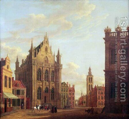 Bruges, 1824 by Augustus Wynantsz - Reproduction Oil Painting