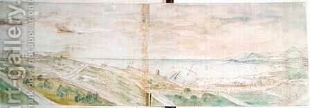 View of Tarragona, 1563 by Anthonis van den Wyngaerde - Reproduction Oil Painting