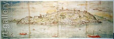 Panoramic View of Tarragona, Spain by Anthonis van den Wyngaerde - Reproduction Oil Painting