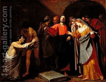 The Raising of Lazarus, c.1630 by Andrea Vaccaro - Reproduction Oil Painting