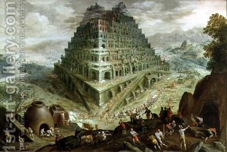 The Building of the Tower of Babel by Marten Van Valckenborch I - Reproduction Oil Painting