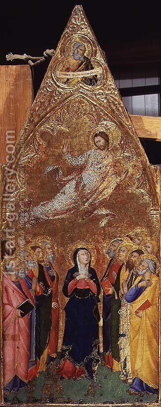 The Ascension of Christ, 1355-60 by Andrea Vanni - Reproduction Oil Painting