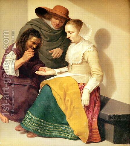 The Fortune Teller, 1631 by Jacob van Velsen - Reproduction Oil Painting