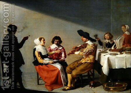 A Musical Party, 1631 by Jacob van Velsen - Reproduction Oil Painting
