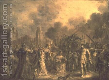 Triumph of David by Adolf van der Venne - Reproduction Oil Painting