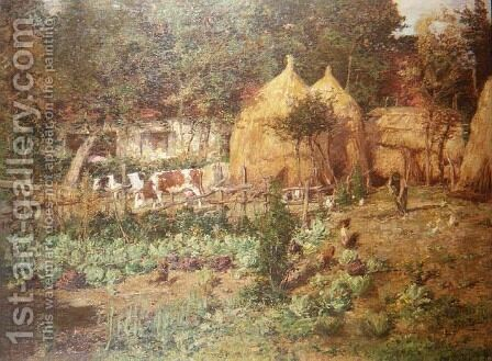 The Haystacks by Isidore Verheyden - Reproduction Oil Painting