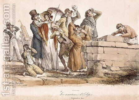 Les Amateurs dEclipse, 7th September 1820 by Carle Vernet - Reproduction Oil Painting