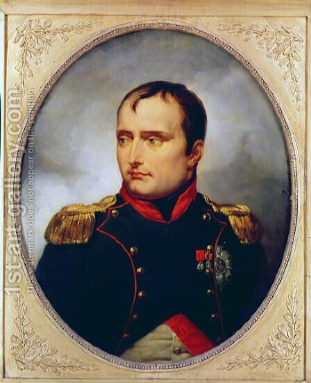 Portrait of Napoleon I (1769-1821), 1815 by Carle Vernet - Reproduction Oil Painting