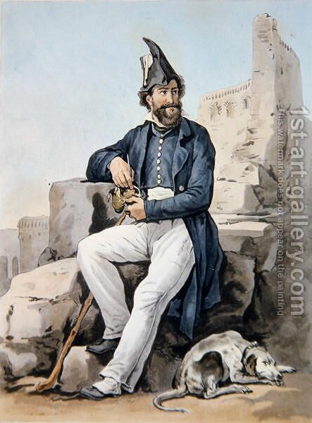 A bearded soldier by Carle Vernet - Reproduction Oil Painting