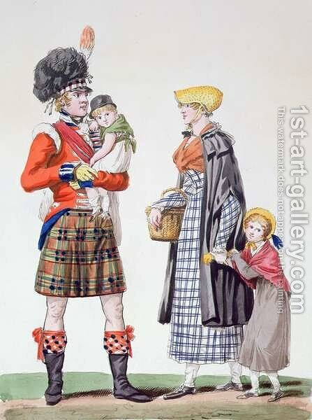 Scottish family by Carle Vernet - Reproduction Oil Painting