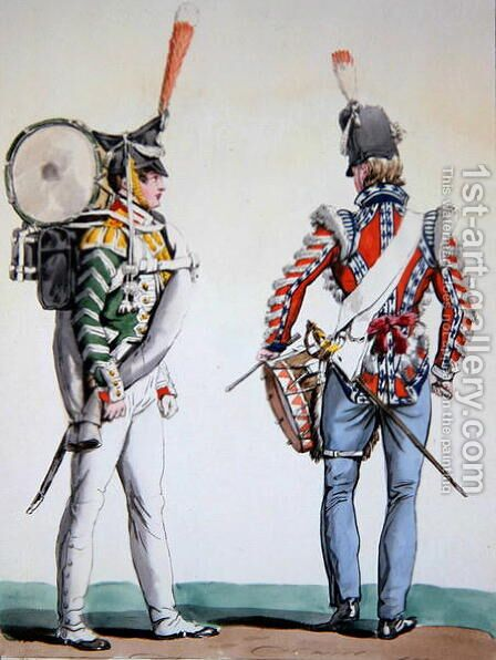 English and Russian drummers by Carle Vernet - Reproduction Oil Painting