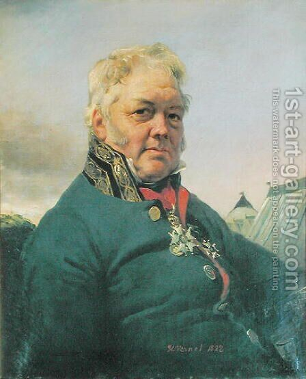 Baron Rene Nicolas DufricheDesgenettes 1762-1837 1822 by Carle Vernet - Reproduction Oil Painting