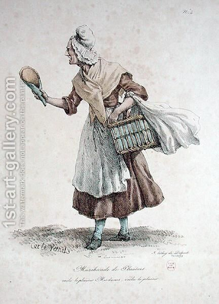 The Pastry Seller, number 4 from The Cries of Paris series, engraved by Francois Seraphin Delpech 1778-1825 by Carle Vernet - Reproduction Oil Painting