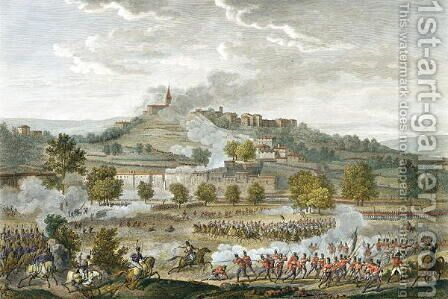 The Battle of Montebello and Casteggio, 20 Prairial, Year 8 9 June 1800 engraved by Jean Duplessi-Bertaux 1747-1819 by Carle Vernet - Reproduction Oil Painting