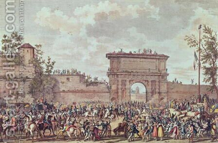 The Entry of the French into Milan, 25 Floreal An IV 14th May 1796 by Carle Vernet - Reproduction Oil Painting