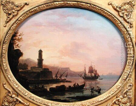 Seascape, 1764 by Claude-joseph Vernet - Reproduction Oil Painting