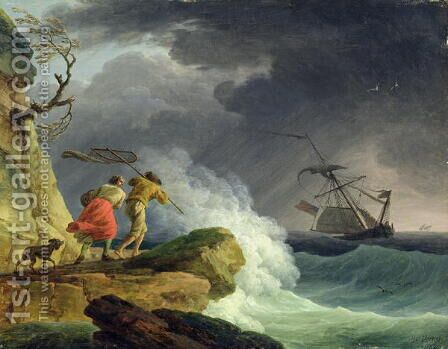 Coastal Scene in a Storm, 1782 by Claude-joseph Vernet - Reproduction Oil Painting