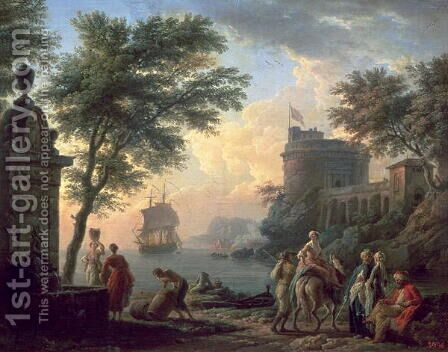 Seaport, 1763 by Claude-joseph Vernet - Reproduction Oil Painting