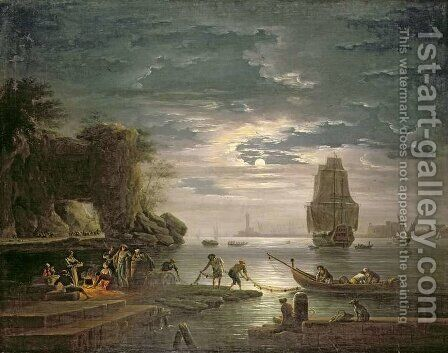 The Night by Claude-joseph Vernet - Reproduction Oil Painting