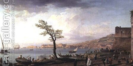 View of the Bay of Naples, 1748 by Claude-joseph Vernet - Reproduction Oil Painting