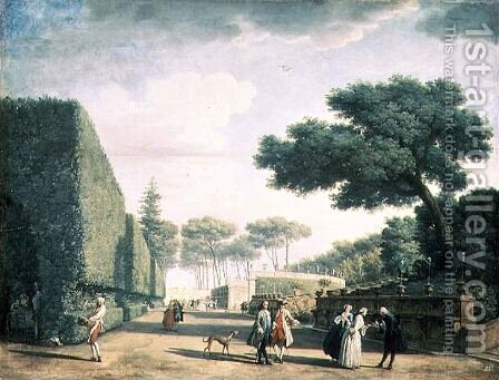 View in the Park of Villa Pamphili, 1749 by Claude-joseph Vernet - Reproduction Oil Painting