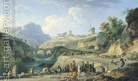 The Construction of a Road, 1774 by Claude-joseph Vernet - Reproduction Oil Painting