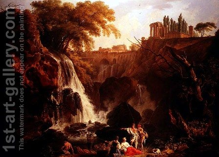 Falls of Tivoli by Claude-joseph Vernet - Reproduction Oil Painting
