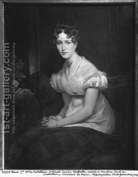 Cordelia Greffulhe by Horace Vernet - Reproduction Oil Painting