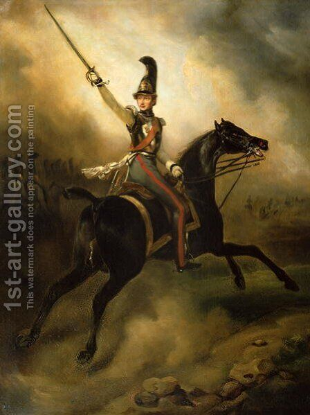 Portrait of Friedrich Heinrich 1584-1647 1830 by Horace Vernet - Reproduction Oil Painting