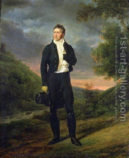 Louis-Philippe 1773-1850 Duke of Orleans, 1818 by Horace Vernet - Reproduction Oil Painting