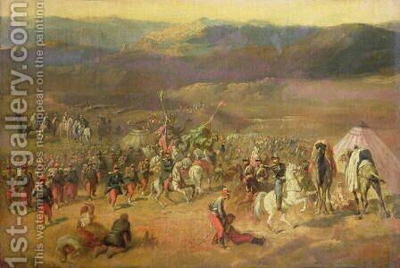The Capture of the Retinue of Abd-el-Kader 1808-83 or, The Battle of Isly on August 14th, 1844, 1844-63 by Horace Vernet - Reproduction Oil Painting