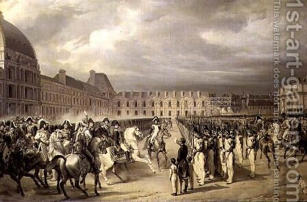 Napoleon Reviewing the Guard in the Place du Carrousel in 1808-9, c.1841-42 by Horace Vernet - Reproduction Oil Painting