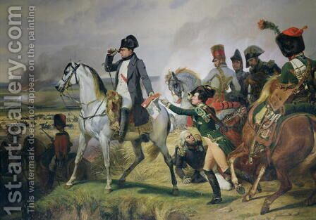The Battle of Wagram, 6th July 1809, 1836 by Horace Vernet - Reproduction Oil Painting