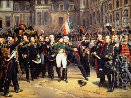 Les Adieux de Fontainebleau, 20th April 1814 by Horace Vernet - Reproduction Oil Painting