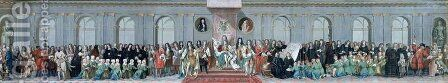 James II 1633-1701 Receiving the Mathematical Scholars of Christs Hospital 2 by Antonio Verrio - Reproduction Oil Painting
