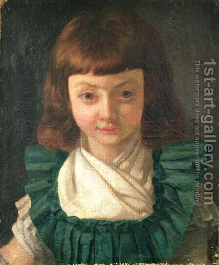 Portrait of Louis XVII 1785-95 as a child, 1791 by Antoine Vestier - Reproduction Oil Painting