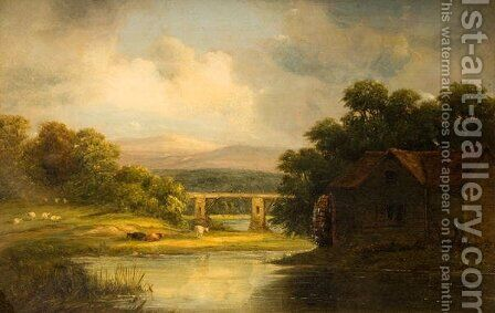 The Old Mill, Bath by Alfred Vickers - Reproduction Oil Painting
